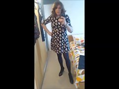 Sexy Masturbating Crossdresser