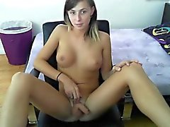 Shemale strokes off on cam