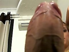 2 lovely tranny whores share a cock