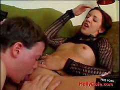Couch Fucking suck bj , blowjob blow job cum cumshot cum shot , brunette fishnets jizz facial