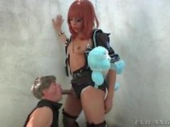 Dominant shemale police officer wants a blowjob