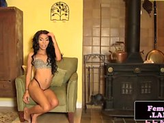 Skinny nubian femboy queen Amira solo session