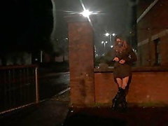 Themidnightminx public flashing in fishnet tights