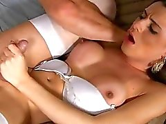 Ass hole of smutty tranny angel gets hammered