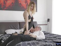 Slender ts beauty Casey Kisses ts ass fucked in many angles