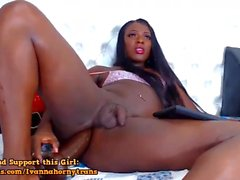 Sexy Butt Ebony Trans Sex Doll Jacking Off On Webcam