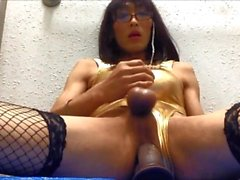Mature slut cd Mariko loves dildo fuck.