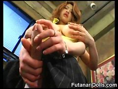 Futanari Babes Stroke and Cum!