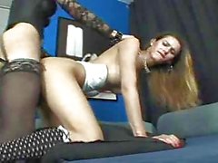 2 Depraved Trannys get forbidden pleasure in the office