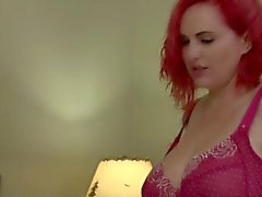 Tgirl beauty submits to strapon wearing lady