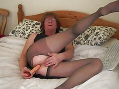 jenny Smith tranny with a dildo