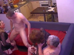 Another TGirl Orgy Part 2, with 3 girls and 2 guys