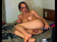 Shemale Gets Wasted and Naughty on Cam