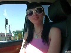 Attractive t-girl Bailey Jay jerking off