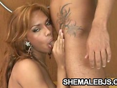 Hot shemale Isabella Lobos giving his man a relaxing