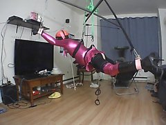 Sissy Self bondage suspension
