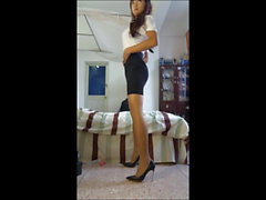 Cute Thai Ladyboy Secretary