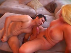 Amazing plump tranny drills a guy