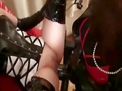 Bizarre amateur slut fisted by a transvestite