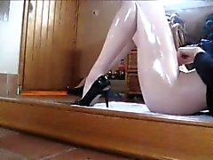 Hot feet masturbation
