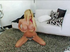 Horny tranny Kimber James anal ripped