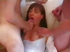 Sissy with 2 men