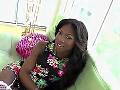 Stunning black transexual bangs muscled bloke