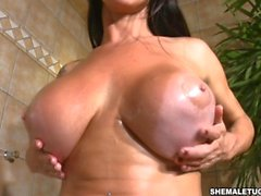 Monster cock Barbara Smith in Super Busty Oiled