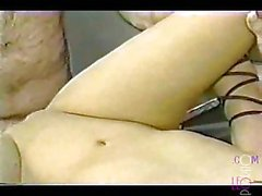 Vintage tranny and girl fuck with a fat cook