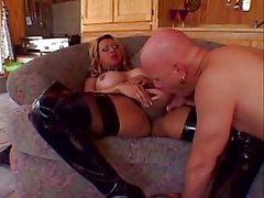 Filthy Tranny With Huge Tits Ramming A Guy