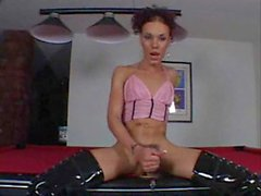 Mia Isabella Solo on Pool table