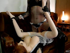 Wet Juicy Cock Slurping Pussy on Maid Sex Doll