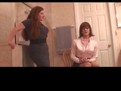husband caught crossdressing